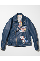 【予約】SEVESKIG 17AW STICKER'S W-RIDERS JACKET NAVY