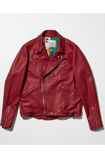 【特先】SEVESKIG 17AW VINTAGE  W-RIDERS JACKET RED