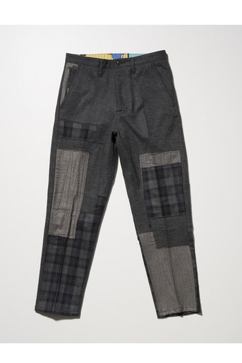 【予約】SEVESKIG 17AW WOOL REPAIR WIDE PANTS GRAY