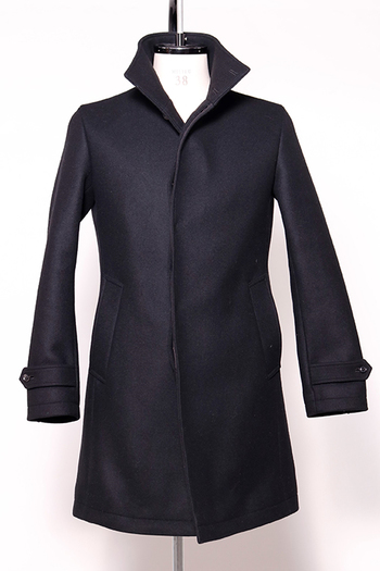 【予約】junhashimoto 17AW STAND COLLAR COAT BLACK