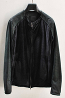 【予約】OURET 17AW LEATHER SLEEVE SINGLE RIDERS BLACK