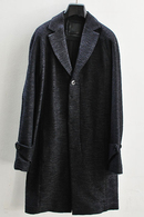 【予約】OURET 17AW RAGLAN SLEEVE CHESTER COAT BLACK