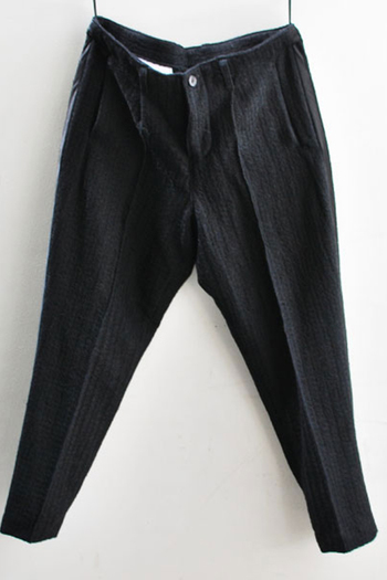 【予約】OURET 17AW SIDE LINE TAPERED PANTS BLACK