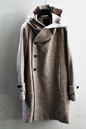 【予約】OURET 17AW BIG HOOD COAT DARK WHITE