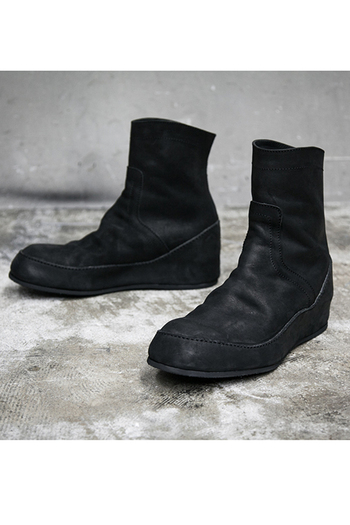【予約】JULIUS 17PF In-Heel Engineer Boots Black