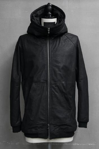 【ポイント10倍】JULIUS 17PF Hooded Jacket Black
