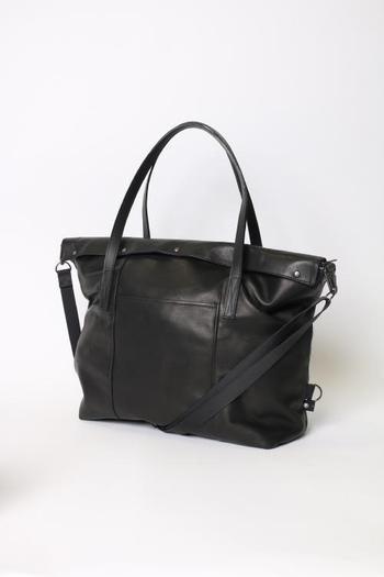 wjk 17WT leather boston-bag black