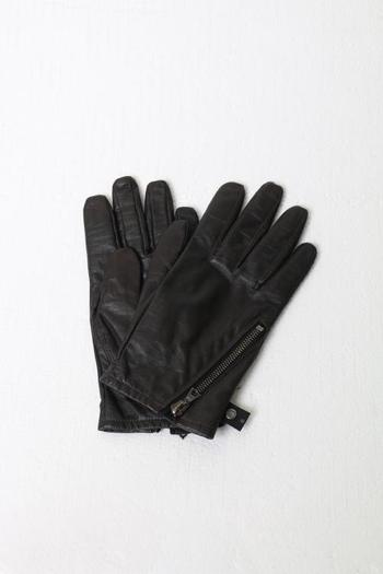 wjk 17WT electric leather glove d.brown