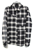 【予約】OVERDESIGN 17FW CRAZY CHECK WORK SHIRTS BLACK