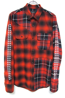 【予約】OVERDESIGN 17FW CRAZY CHECK WORK SHIRTS RED
