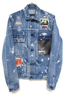 "【予約】OVERDESIGN 17FW DENIM JACKET ""ROCKSTAR"" MID BL"