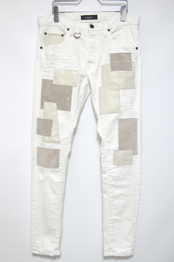 "【予約】OVERDESIGN 17FW NEW SKINNY ""PATCH LEATHER"" WH"