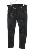 "【予約】OVERDESIGN 17FW NEW SKINNY ""RIPPED"" BLACK"