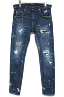 "【予約】OVERDESIGN 17FW NEW SKINNY ""REAL"" PAINT BLUE"
