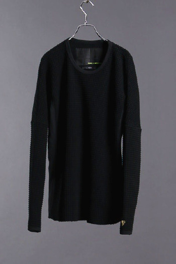 LUXE163AKMBB WAFFLE PULLOVER BK