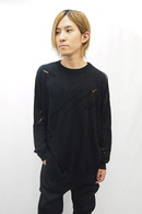 【30%OFF+ポイント10倍】Sise DAMAGED BIG KNIT BLACK_ss82