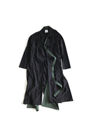 Sise 18SS DRESS COAT BLACK×GREEN_ss82