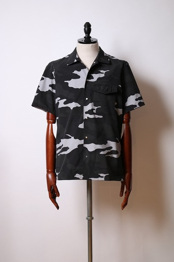 【予約】wjk 18SP snap button shirts gray camo_wj81