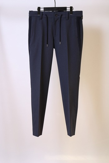【予約】wjk 18SP wind through slacks navy_wj81