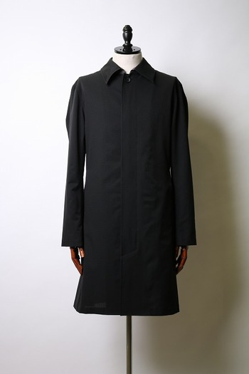 【予約】wjk 18SP stain collar coat black_wj81