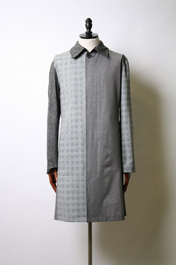 【予約】wjk 18SP stain collar coat gray_wj81