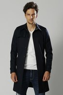 【予約】wjk 18SP single trench  navy_wj81