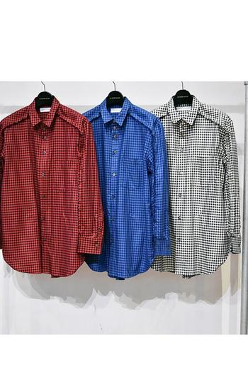 【予約】DBSS 18SS Joined long sleeve check shirt_db82