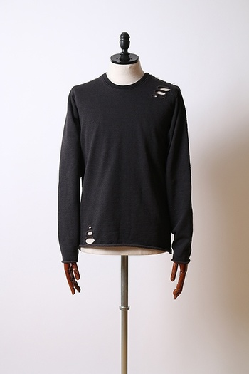 【予約】wjk 18AW damaged long-T_wj85