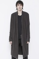 【予約】JULIUS 18PF SHIRRING LONG CARDIGAN_ju84