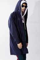 【予約】ATM7 18AW RAP HOODED RELAX COAT STRIPE A_am85