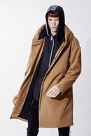 【予約】ATM7 18AW RAP HOODED RELAX COAT MUJI B_am85