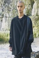 【ポイント10倍】NILoS 18FW Slashing Sweat Shirt_ns85