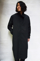 【予約】JULIUS 18FW Coverd Neck Long Shirt_ju85