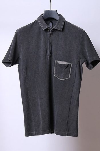【予約】wjk 19SP leather pocket-polo_wj91