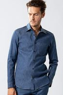 【特先】wjk 19SP denim dress shirt_wj91