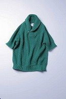 9200  loose shawl pullover GREEN