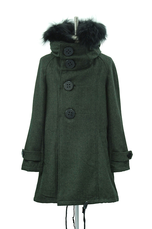 【10%OFF】MiDiom Big Button Hooded Coat_mda5