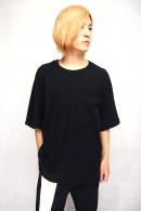 【20%OFF】Sise BIG POCKET T-SHIRTS BLK_ss82