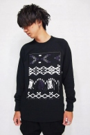 Sise JACQUARD SWEAT BLACK